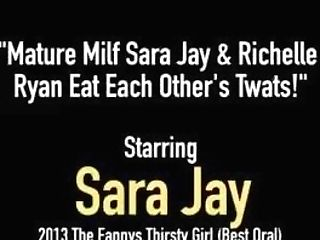 Matures Mummy Sara Jay & Richelle Ryan Eat Each Other's Twats!