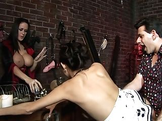 Sex-positive Witch And Big Tittied Cougar Are Fucked By Horny Dude