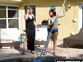 Realitykings - Moms Eat Teenagers - Brooke Laugh At Cory Chase - Poolside Drill