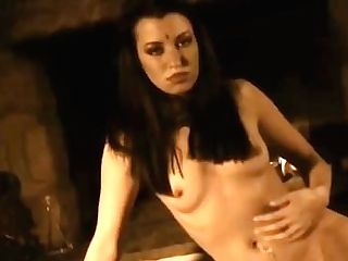 Serious Black-haired Nude Temptation