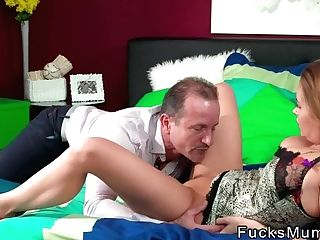 Sexy Buxom Mom Banged Till Internal Ejaculation