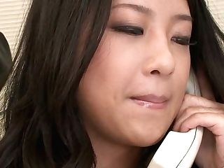 Active Japanese Sexy Office Nymphomaniac Satomi Suzuki Gets Taunted With Tool