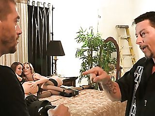 Dahila Sky Fucking Passionately In Threesome In Front Of Her Cheating
