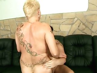 Messy Platinum-blonde Mom Gets Her Snatch Plumbed Missionary And Rear End
