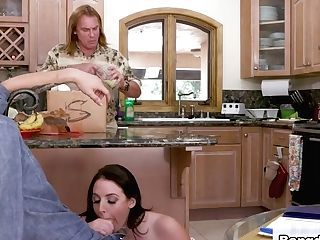 Angela Milky In Big Tits Under The Table - Bigtitsroundasses