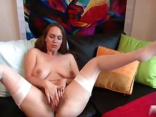 Hairy Solo In Nylons