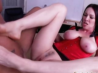 Underwear Loving Cougar Luvs Foot Fetish