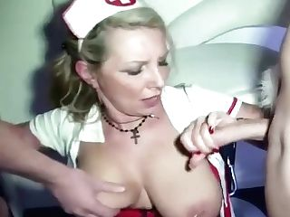 Fuck In Front Of Friends On Soiree From German Mummy Jenny