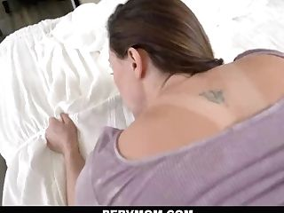 Pervmom - Big-chested Mummy Gets Her Tits Toyed With By Stepson